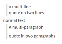 Markdown quotes